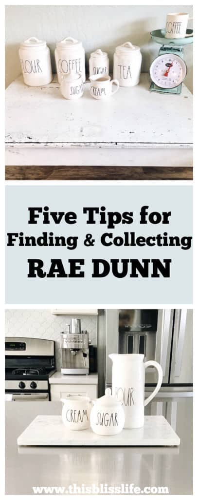 Five Tips For Finding And Collecting Rae Dunn This Bliss Life