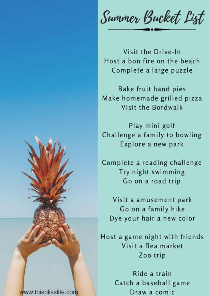 Fun Summer Bucket List For Families This Bliss Life